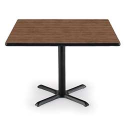 "36"" Square X-Base Breakroom Table, 41407"