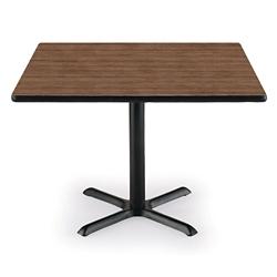 "36"" Square X-Base Breakroom Table, 41407"