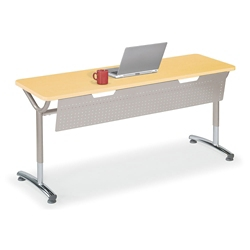 "Adjustable-Height Training Table with Modesty Panel 60""W x 20""D, 41431"