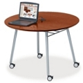 "Mobile 48"" Round Conference Table with Data Port, 41484"