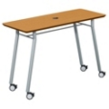 "Mobile 48""W x 20""D Utility Table with Data Port, 41485"