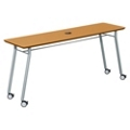 "Mobile 72""W x 20""D Utility Table with Data Port, 41487"