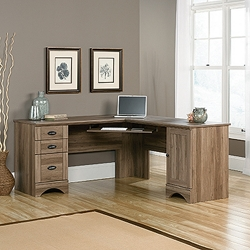 Corner L-Desk with Reversible Storage, 13397