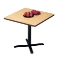 "Breakroom Table with Black Base - 36"" Square Top, 44076"