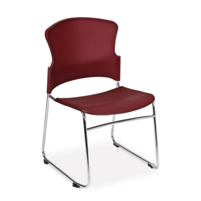 Merveilleux Armless Plastic Shell Stack Chair, 44178