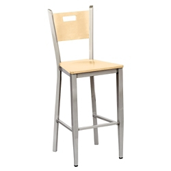 Frappe Wood Cafe Stool with Clear Coat, 44295