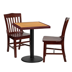 "Breakroom Table and Chair Set- 24""W x 24""D, 44406"