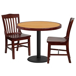 "Breakroom Table and Chair Set- 36"", 44408"
