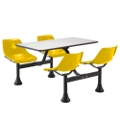 "Cluster Lunchroom Table with Four Chairs - 71""W x 48""D, 44521"