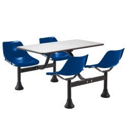 "Cluster Lunchroom Table with Four Chairs - 65"" W x 48"" D, 44520"