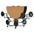 """60"""" Round Table with Chrome Frame and 8 Seats, 44523"""