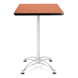 "24"" Square Cafe Table with Chrome Base, 44563"