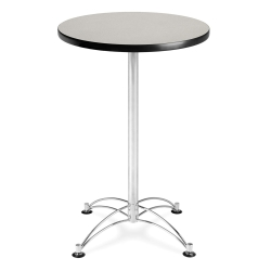 "24"" Round Cafe Table with Chrome Base, 44572"