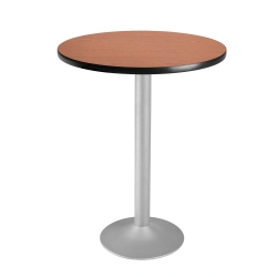 "30"" Round Flip-Top Cafe Table with Pedestal Base, 44574"