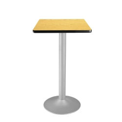 "24"" Square Flip-Top Cafe Table with Pedestal Base, 44575"