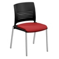 Cafe Stack Chair with Fabric Seat, 44595