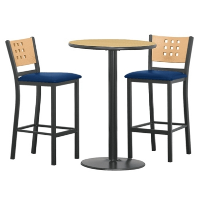 Cafe au Lait Oversized Stools and 30  Round Bar Height Table Set ...  sc 1 st  National Business Furniture & Employee Lunchroom Furniture | Break Room Office Cafeteria ... islam-shia.org
