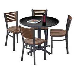 Loft Breakroom Standard Height Table and Four Chair Set  44681Table and Chair Sets   National Business Furniture. Meeting Room Table And Chairs. Home Design Ideas