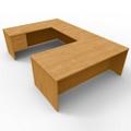"""Executive U Desk with Left Return - 72""""W x 108""""D, 45003"""