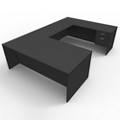 "Executive U Desk with Right Return - 72""W x 108""D, 45004"