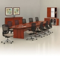 Contemporary 20' Conference Table with Sixteen Chairs, 45048