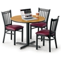 """36"""" Round Table with X Base and Four Chairs, 46004"""