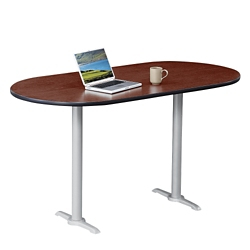 """Frappe Oval Bar Height Table - 72""""W , 46019"""