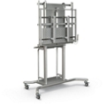 "Electric Height Adjustable Flat Panel Monitor Cart - 58""W, 43460"