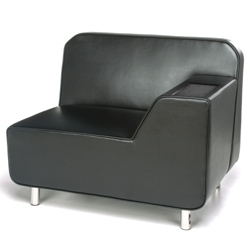 Left Arm Polyurethane Lounge Chair with Inlay Table, 53011