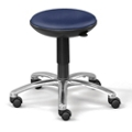 Polyurethane Adjustable-Height Rolling Stool with Memory Foam Seat, 50016