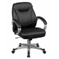Mid-Back Faux Leather Chair, 50653
