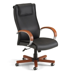 Apex High Grade Leather High-Back Chair, 50727