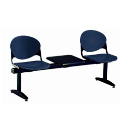 Two-Seat Beam Bench with Center Table, 50746
