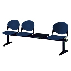 Three-Seat Beam Bench with Side Table, 50747