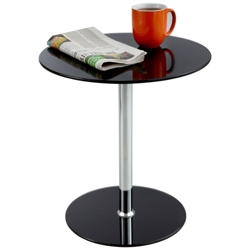 "Round Glass Top Accent Table - 17.75""DIA, 41951"