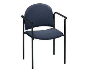 Fabric Stackable Chair with Arms, 51113