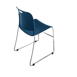 Poly Stack Chair with Glides, 51216