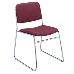 Chrome Sled Base Stack Chair, 51305