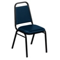 "Square Back Vinyl Stack Chair with 1-1/2"" Seat, 51328"