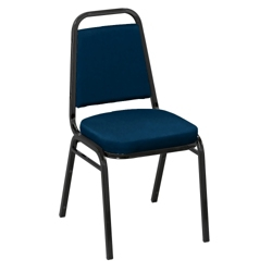 "Square Back Vinyl Stack Chair with 2"" Seat, 51329"