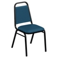 "Square Back Fabric Stack Chair with 1-1/2"" Seat, 51331"