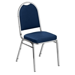 "Round Back Fabric Stack Chair with 2"" Seat, 51339"