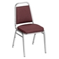 """Square Back Patterned Fabric Stack Chair with 2""""Seat, 51341"""