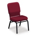 Armless Fabric Ganging Stack Chair - 500 lb Weight Capacity , 51365