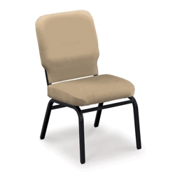 Oversized Armless Stack Chair in Vinyl, 51366