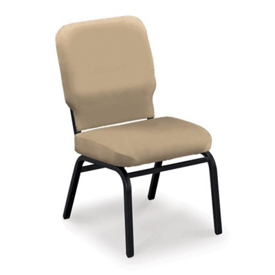 Armless Vinyl Ganging Stack Chair   500 Lb Weight Capacity , 51366