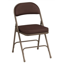 "Oasis Fabric Folding Chair with 2-1/4"" Thick Seat, 51369"