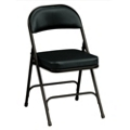 "Oasis Vinyl Folding Chair with 2-1/4"" Thick Seat, 51370"