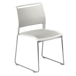 All-Purpose Poly Back and Mesh Seat Stack Chair, 51373