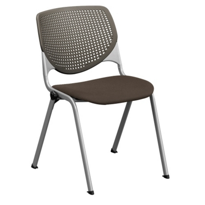 Perforated Poly Back And Upholstered Seat Stack Chair   400 Lb. Capacity,  51378